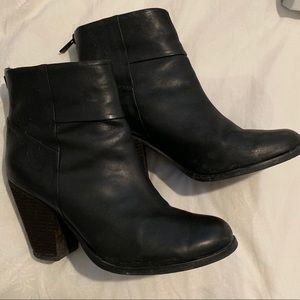 Vince Camuto Black Healed Booties